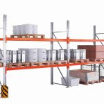 Паллетные стеллажи (промышленные/ фронтальные) для склада купить недорого